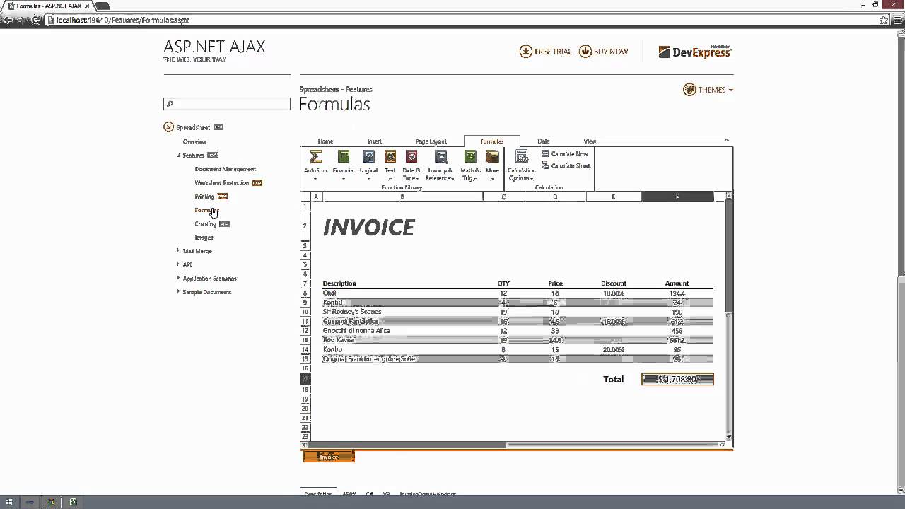 DevExpress ASP NET + MVC SpreadSheet: New Features