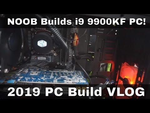 NOOB Builds Coffee Lake i9 9900KF/ Z390/ Custom PC 2019 Build VLOG