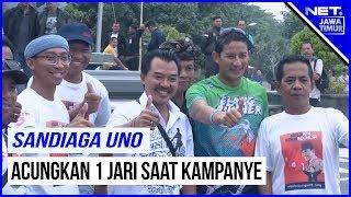 Kampanye Sandiaga Uno Di Bali, Disambut Pendukung Jokowi Ma'ruf - NET. JATIM