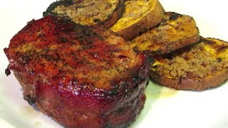Bacon Wrapped Pork Loin Chops - How To Grill Pork Chops - Spicy Maple Glaze Recipe