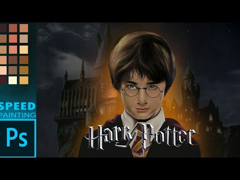 Drawing Harry Potterldigital painting photoshop time lapse (2019) digital arts and design 2019