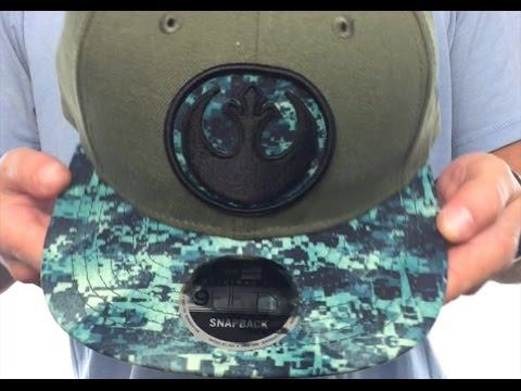 Star Wars  ROGUE ONE REBEL SNAPBACK  Olive Hat by New Era - YouTube 56863f4ac009
