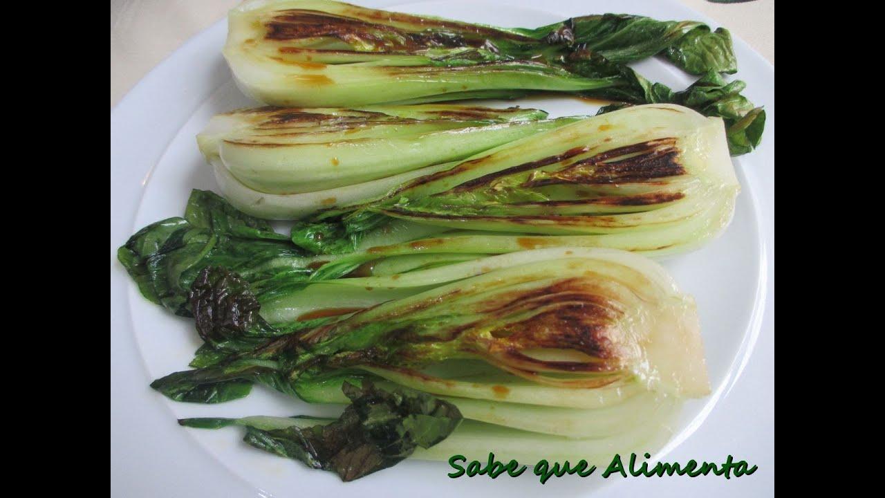 Pak choi o col china a la plancha sabe que alimenta for Que cuisiner a la plancha