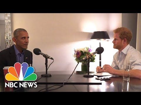 Prince Harry Interviews Former President Obama About Cybersecurity | NBC News