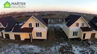 видео Интерьер дома проекта Флэтхаус. Панельно-брусовый дом на две семьи.