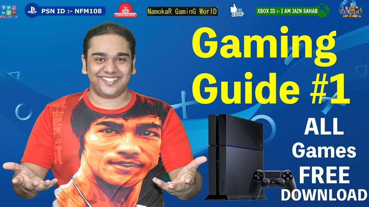 Gaming Guide #1 | Latest PS4 Games Free Download | Very Easy Method in  HINDI | NamokaR GaminG WorlD