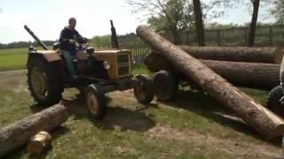 Załadunek drewna Ursus C-330