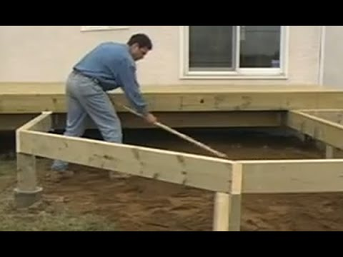 Comment construire un patio en bois trait conseils de for Plan de deck de piscine