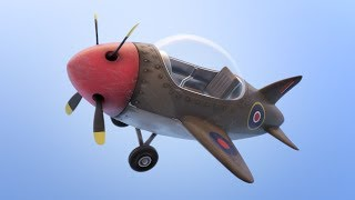 Texturing a Simple Airplane in Blender 2.8