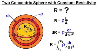 Physics - E&M: Resistivity and Resistance (14 of 32) Resistance Between 2 Concentric Spheres