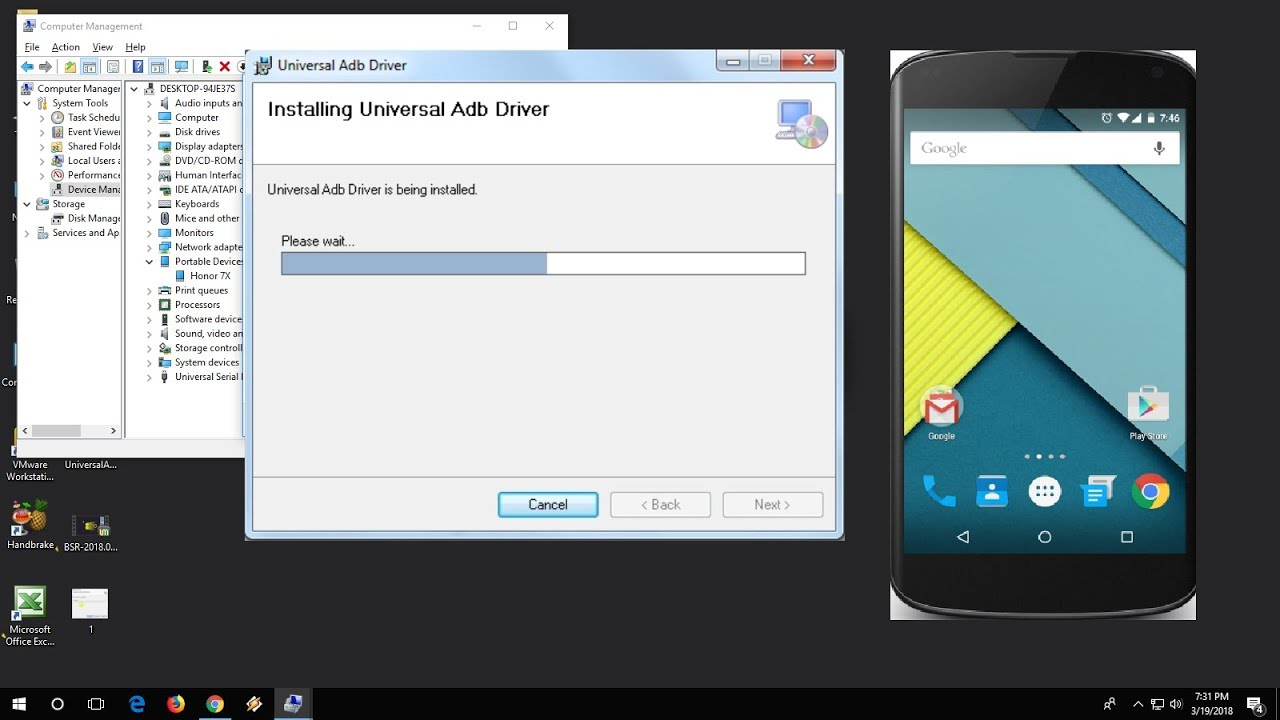 Tutorial: manually installing android adb usb driver.