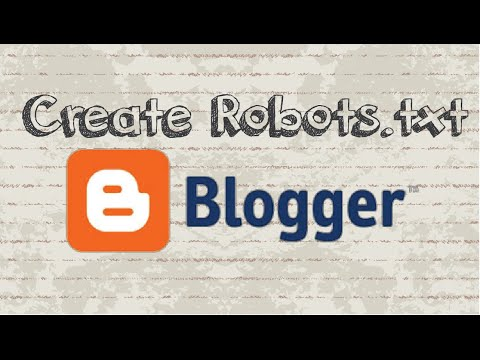 How to create robots.txt for Blogger