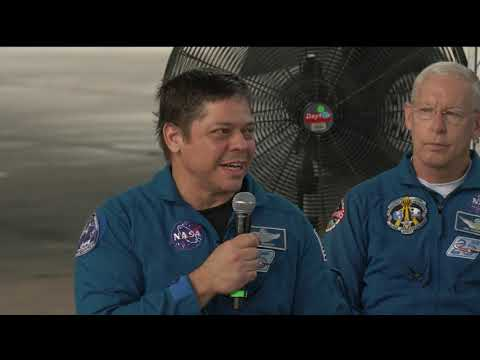Demo-2 Astronauts Behnken and Hurley Return to Houston at Ellington Field