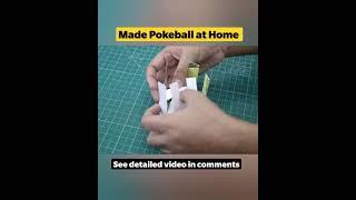 Pokeball Made at Home   Simple Paper Craft  #shorts