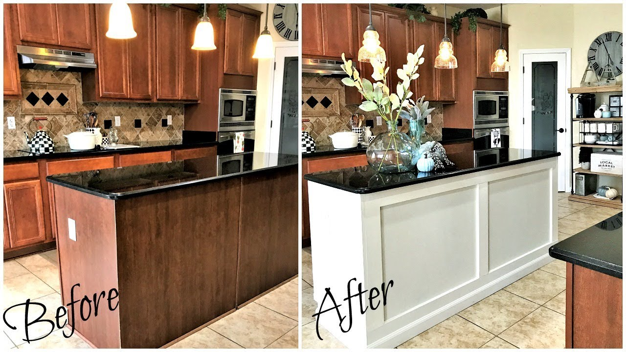 New Home Improvements Diy Kitchen Island Makeover Reveal Youtube