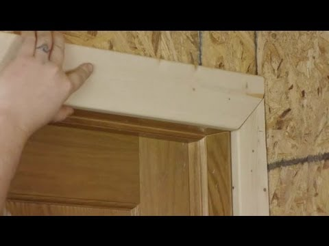 How To Install A Door Casing In A Corner When It Is Narrower T... : Trim  Installation U0026 Maintenance