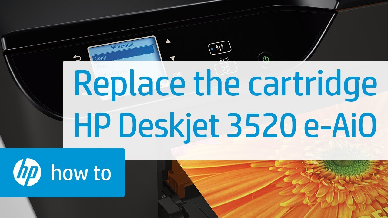 Replacing a Cartridge | HP Deskjet 3520 e-All-in-One Printer | HP