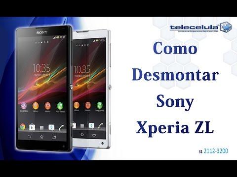 Desmontagem Sony Xperia ZL - Disassembly Xperia ZL / ZQ - TELECELULA