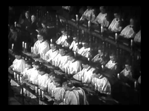1954 King's Carol Service in B/W