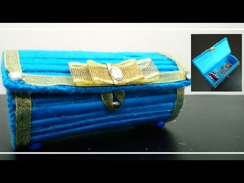 How To Make  A Jewellery Organizer | DIY Storage Box | Easy Newspaper And Woolen Crafts