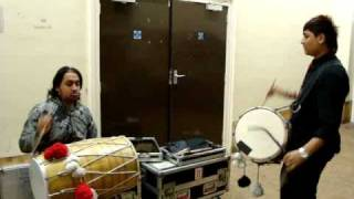 manish and lakhan on dhol