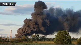 В Ленобласти произошёл пожар на заводе изоляционных материалов