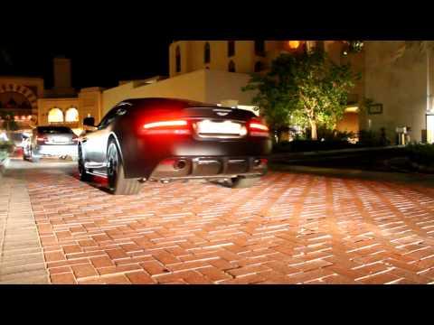 Aston-Martin DBS Matte Black Revving ! @Qatar Doha Nb-Driver Photography