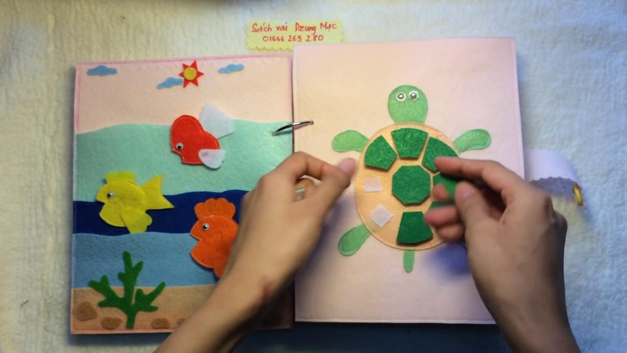 Nguyên liệu và mẫu sách vải – ý tưởng tự làm đồ handmade sách vải nỉ cho bé 3 tuổi