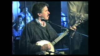 Michael Miles and Mark Schatz performing at the 1997 Maryland Banjo Academy final concert.