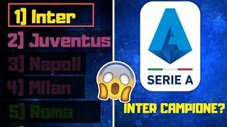 INTER CAMPIONE D'ITALIA? PRONOSTICO SULLA CLASSIFICA FINALE DELLA SERIE A 2019/2020