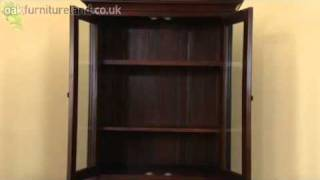 Louis Philippe Solid Mahogany Display Cabinet From Oak Furniture Land