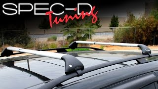 SPECDTUNING INSTALLATION VIDEO: SNAP-FIT UNIVERSAL ROOF RACK