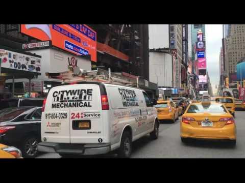 Driving Downtown New York City USA 4K