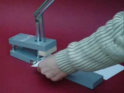 Paperfox MP-1 Paper punch with OP-8 round punch tool