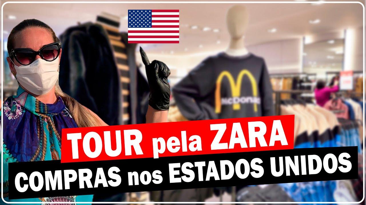 TOUR pela ZARA nos ESTADOS UNIDOS - Novidades no setor feminino e masculino.