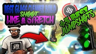 NBA 2K17 - BEST GLASS CLEANER BUILD(SHOOT LIKE A STRETCH) + 5 BEST JUMPSHOTS FOR A GLASS CLEANER