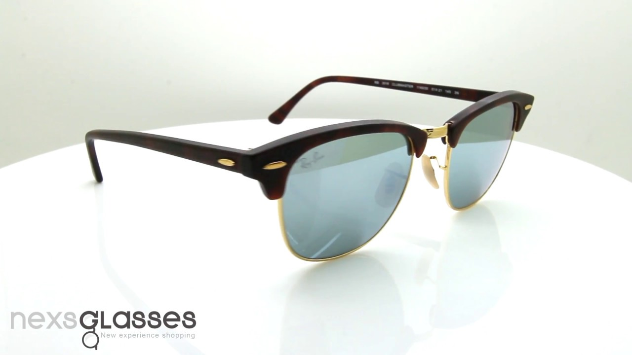 79f06f819b แว่นกันแดด RAY-BAN CLUBMASTER FLASH LENSES RB3016 114 530 51. Nexs Glasses