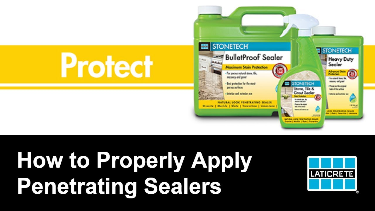 how to properly apply penetrating sealers