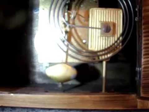 ANTIQUE c1925 DUTCH BRUNOTT ROTTERDAM ON COIL GONG CHIMING 2 TONED MANTEL CLOCK MOVEMENT