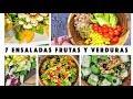 7 Ensaladas de Frutas y Verduras ¡ORIGINALES y SALUDABLES!