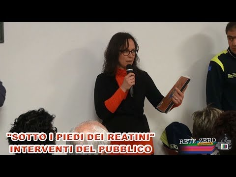 SOTTO I PIEDI DEI REATINI - INTERVENTI DEL PUBBLICO