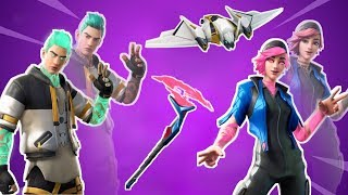 Fortnite NEW Flare / Nitebeam Skin, Splintered Pickaxe, Megabat Glider!