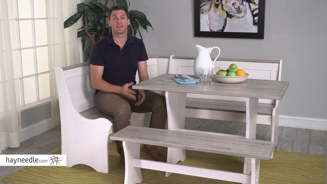 Finley Home Nantucket Coastal Nook Dining Set   Product Review Video