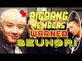 BIGBANG MEMBERS WARNED SEUNGRI  VIDEO PROOF pt.3 - YouTube