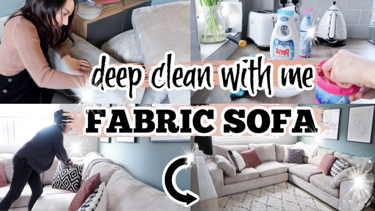 HOW TO CLEAN A FABRIC SOFA  SOFA CLEANING ROUTINE 8