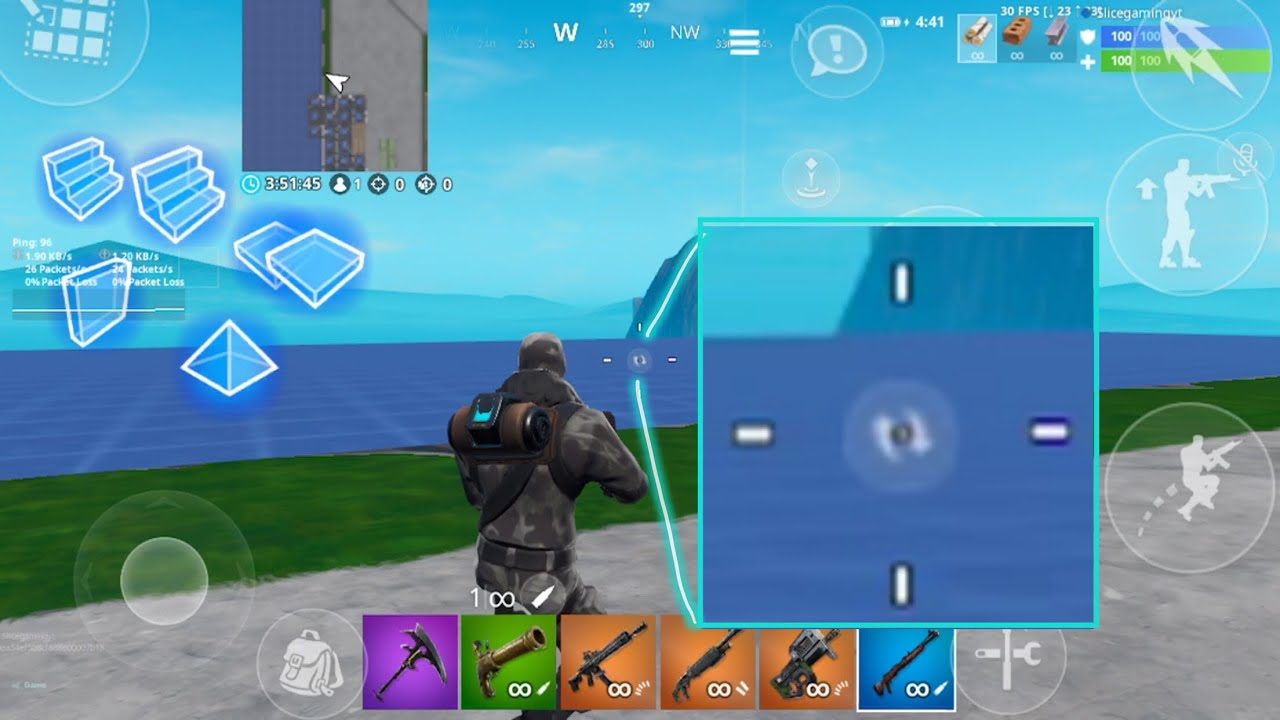 How to get a custom crosshair in Fortnite mobile (no hacks