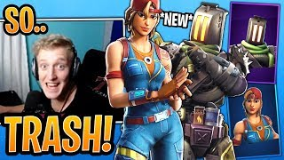 Tfue BUYS & Reacts to Both *NEW* Sparkplug and Kitbash Skins! - Fortnite Moments