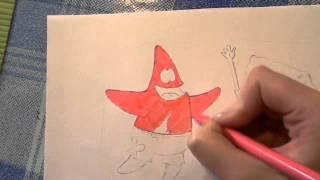 Уроки рисования для детей. Мультгерои фломастером.