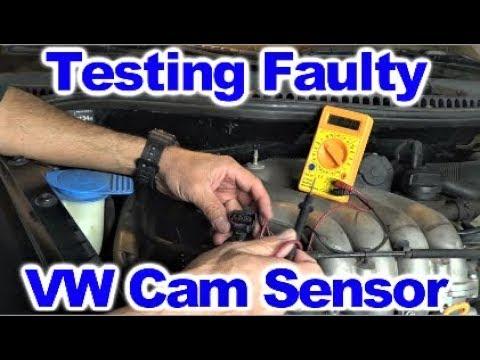 Diagnosing Bad Cam Sensor on VW 20 L Engine - YouTube