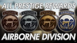 ALL PRESTIGE REWARDS FOR AIRBORNE DIVISION! SECRET DIVISION WEAPONS! (WW2 Division Prestige Rewards)